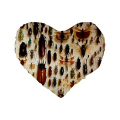 Insect Collection Standard 16  Premium Heart Shape Cushions