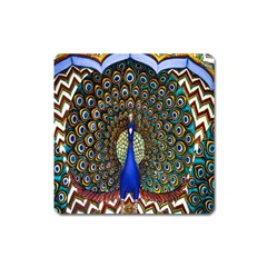 The Peacock Pattern Square Magnet