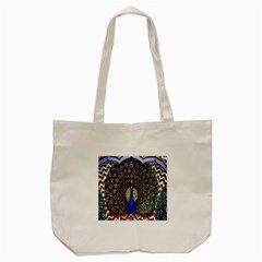 The Peacock Pattern Tote Bag (Cream)