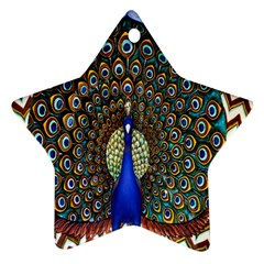 The Peacock Pattern Star Ornament (Two Sides)