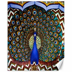 The Peacock Pattern Canvas 16  x 20