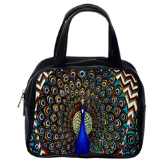 The Peacock Pattern Classic Handbags (One Side)