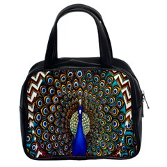 The Peacock Pattern Classic Handbags (2 Sides)