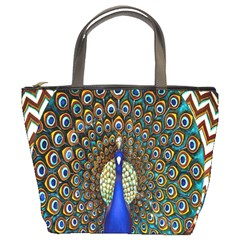 The Peacock Pattern Bucket Bags