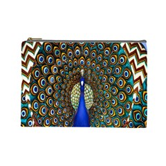 The Peacock Pattern Cosmetic Bag (Large)
