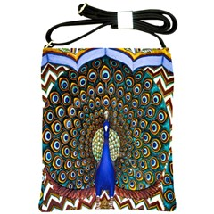 The Peacock Pattern Shoulder Sling Bags