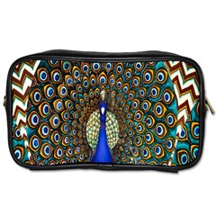 The Peacock Pattern Toiletries Bags