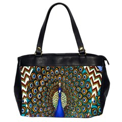 The Peacock Pattern Office Handbags (2 Sides)