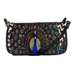 The Peacock Pattern Shoulder Clutch Bags