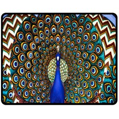 The Peacock Pattern Fleece Blanket (Medium)