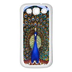 The Peacock Pattern Samsung Galaxy S3 Back Case (White)