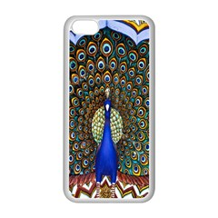 The Peacock Pattern Apple iPhone 5C Seamless Case (White)