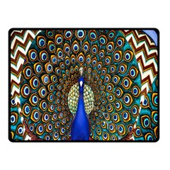 The Peacock Pattern Double Sided Fleece Blanket (Small)