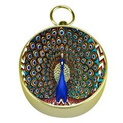 The Peacock Pattern Gold Compasses
