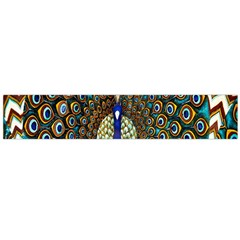 The Peacock Pattern Flano Scarf (Large)