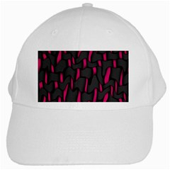 Weave And Knit Pattern Seamless Background White Cap