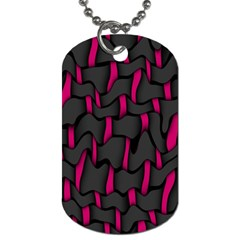 Weave And Knit Pattern Seamless Background Dog Tag (One Side)