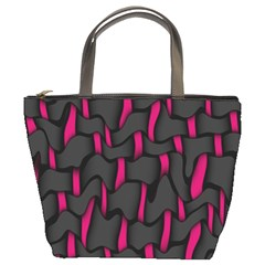 Weave And Knit Pattern Seamless Background Bucket Bags