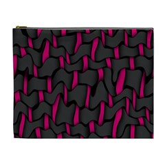 Weave And Knit Pattern Seamless Background Cosmetic Bag (XL)