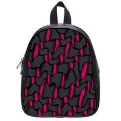 Weave And Knit Pattern Seamless Background School Bags (Small)