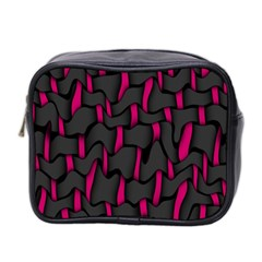Weave And Knit Pattern Seamless Background Mini Toiletries Bag 2-Side
