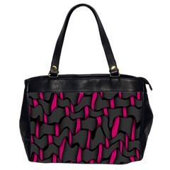 Weave And Knit Pattern Seamless Background Office Handbags (2 Sides)