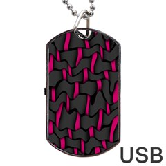 Weave And Knit Pattern Seamless Background Dog Tag USB Flash (One Side)