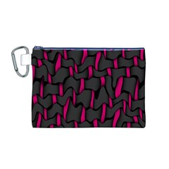 Weave And Knit Pattern Seamless Background Canvas Cosmetic Bag (M)