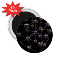Grid Construction Structure Metal 2.25  Magnets (10 pack)