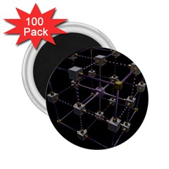 Grid Construction Structure Metal 2.25  Magnets (100 pack)