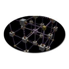 Grid Construction Structure Metal Oval Magnet