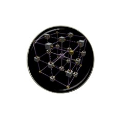 Grid Construction Structure Metal Hat Clip Ball Marker (4 Pack)