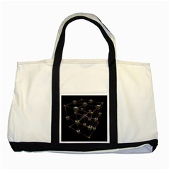 Grid Construction Structure Metal Two Tone Tote Bag