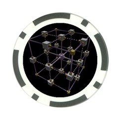 Grid Construction Structure Metal Poker Chip Card Guard