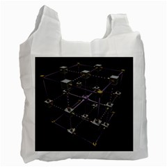 Grid Construction Structure Metal Recycle Bag (Two Side)