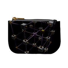 Grid Construction Structure Metal Mini Coin Purses