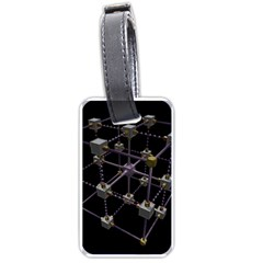 Grid Construction Structure Metal Luggage Tags (One Side)