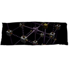 Grid Construction Structure Metal Body Pillow Case Dakimakura (Two Sides)