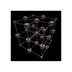 Grid Construction Structure Metal Acrylic Tangram Puzzle (4  x 4 )
