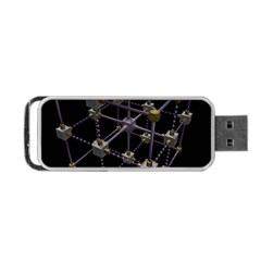 Grid Construction Structure Metal Portable USB Flash (One Side)