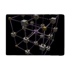 Grid Construction Structure Metal Apple iPad Mini Flip Case