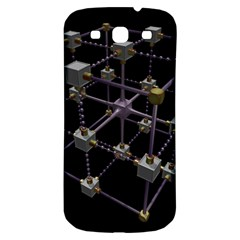 Grid Construction Structure Metal Samsung Galaxy S3 S III Classic Hardshell Back Case