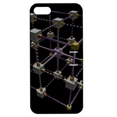 Grid Construction Structure Metal Apple Iphone 5 Hardshell Case With Stand