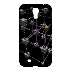 Grid Construction Structure Metal Samsung Galaxy S4 I9500/I9505 Hardshell Case