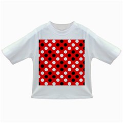 Red & Black Polka Dot Pattern Infant/Toddler T-Shirts