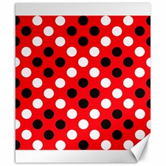 Red & Black Polka Dot Pattern Canvas 20  x 24