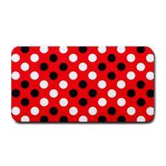 Red & Black Polka Dot Pattern Medium Bar Mats