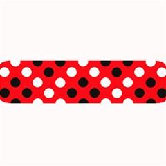 Red & Black Polka Dot Pattern Large Bar Mats