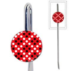 Red & Black Polka Dot Pattern Book Mark