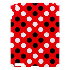 Red & Black Polka Dot Pattern Apple iPad 3/4 Hardshell Case